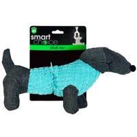Plush Dachshund Squeaky Dog Toy in Blue