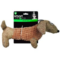 Plush Dachshund Squeaky Dog Toy in Brown