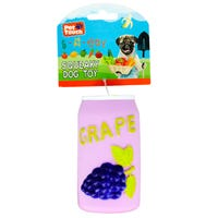 Squeaky Grape Bottle Dog Toy