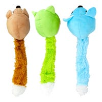Plush Fox Dog Toy with Squeaker Assorted