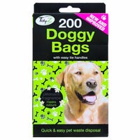 Doggy Bags With Tie Handles 200 Pack