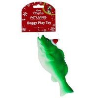 Christmas Squeaky Fish Dog Toy Assorted