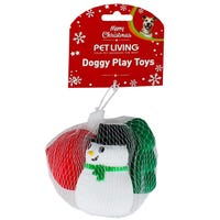 Christmas Squeaky Puppy Toys Assorted 3 Pack