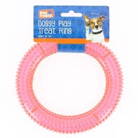 Pet Touch Treat Ring Dog Toy Pink
