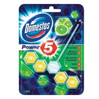 Domestos Power 5 Toilet Rim Block Lime 55g