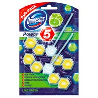 Domestos Power 5 Lime Toilet Block Twin Pack
