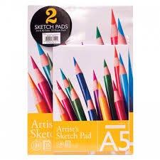 Artist Sketch Pads 2Pack 25 Sheet