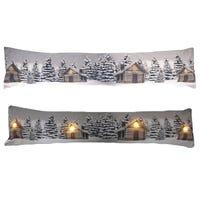LED Draught Excluders Snowy Christmas Trees