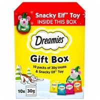 Dreamies Christmas Cat Treat Gift Box 10 Pack