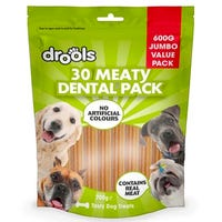 Drools Jumbo Meaty Dental Sticks 30 Pack