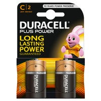 Duracell C Size Plus Power Batteries 2 Pack
