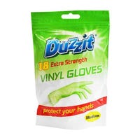 Duzzit 18 Extra Strength Vinyl Gloves - Medium