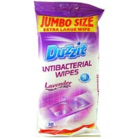 Antibacterial Wipes X-Large Lavender 30 Pack