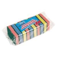 Sponge Scourers Multi-Coloured 20 Pack