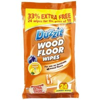 * Duzzit Jumbo Wood Floor Wipes Lemon Fresh 24 Pack