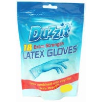 * Latex Gloves Extra Strength Medium 18 Pack