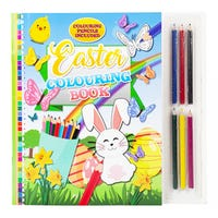 Easter Colouring Book with Mini Pencils Set