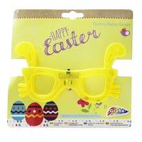 Flashing Easter Bunny Glasses Yellow