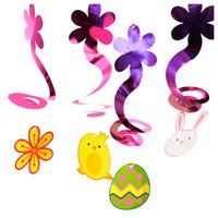Hanging Easter Decorative Swirls 4 Pack