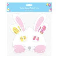 Easter Bunny Paper Mask and Ears 4 Pack