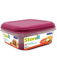 Edgo Food Storage Container Pink 4 Piece