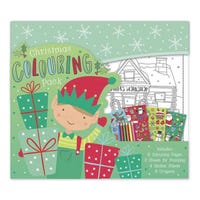 Large Christmas Colouring and Sticker Activity Elf