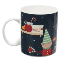 Christmas Elf Mulled Wine Bone China Mug