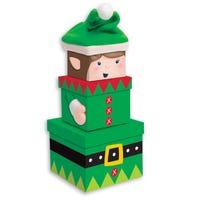 Christmas Elf Nesting Boxes 3 Pack