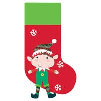 Christmas Stocking with Novelty Elf's Legs