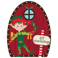 Elf Workshop Door Hanger 18cm