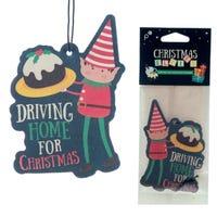 Christmas Cake Air Freshener Driving Home for Christmas