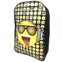 Emoji with Glasses and Headphones Arch Backpack