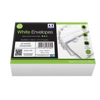 Envelopes White Peal and Seal 40 Pack