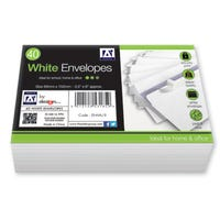 White Envelopes Peal and Seal 40 Pack