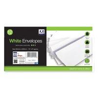 C4 Envelopes White Gum 12 Pack