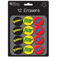 Superhero Erasers 12 Pack