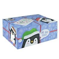 Penguin Design Christmas Eve Box 35cm x 25cm x 15cm