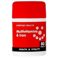 Everyday Health Multivitamins and Iron 80 Tablets
