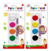 Face Paint Set with Applicators Assorted Colours