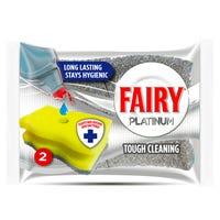 Fairy Hygienic Scourer Platinum 2 Pack