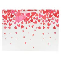 Valentines Falling Hearts Gift Bag in Shopper