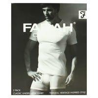 Farah Classic White T-Shirt in Medium 2 Pack