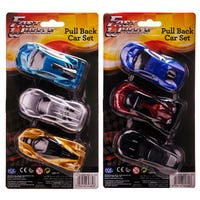 Fast Wheels Pull Back Cars 3 Pack Assorted