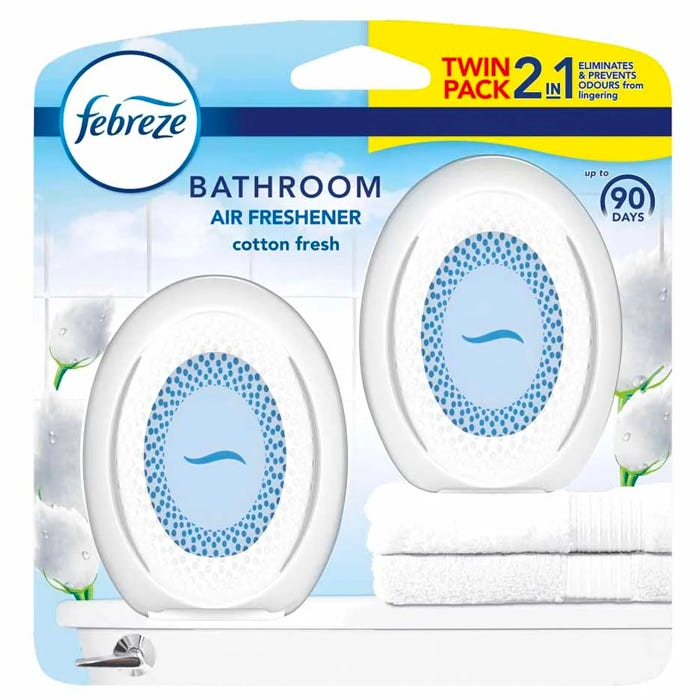Febreze Bathroom Air Freshener Cotton Fresh 2 Pack