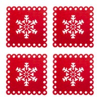 Country Club Snowflake Felt Coasters 4 Pack