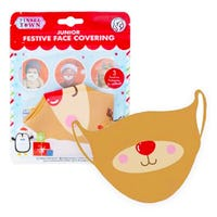 Junior Festive Face Covering in Reindeer Design