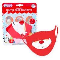 Junior Festive Face Covering in Santa Design