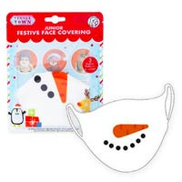Junior Festive Face Covering in Snowman Design