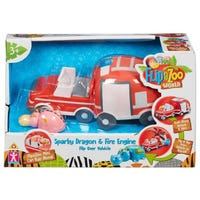 FlipaZoo Flip Over Vehicle Sparky Dragon Fire Engine