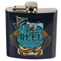 Stainless Steel Hip Flask 6oz Reel Adventure